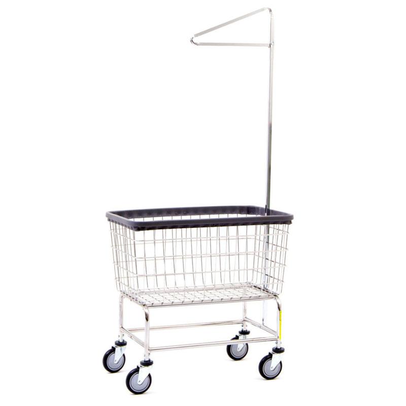4 5 Bushel Large Capacity Laundry Cart W Single Pole