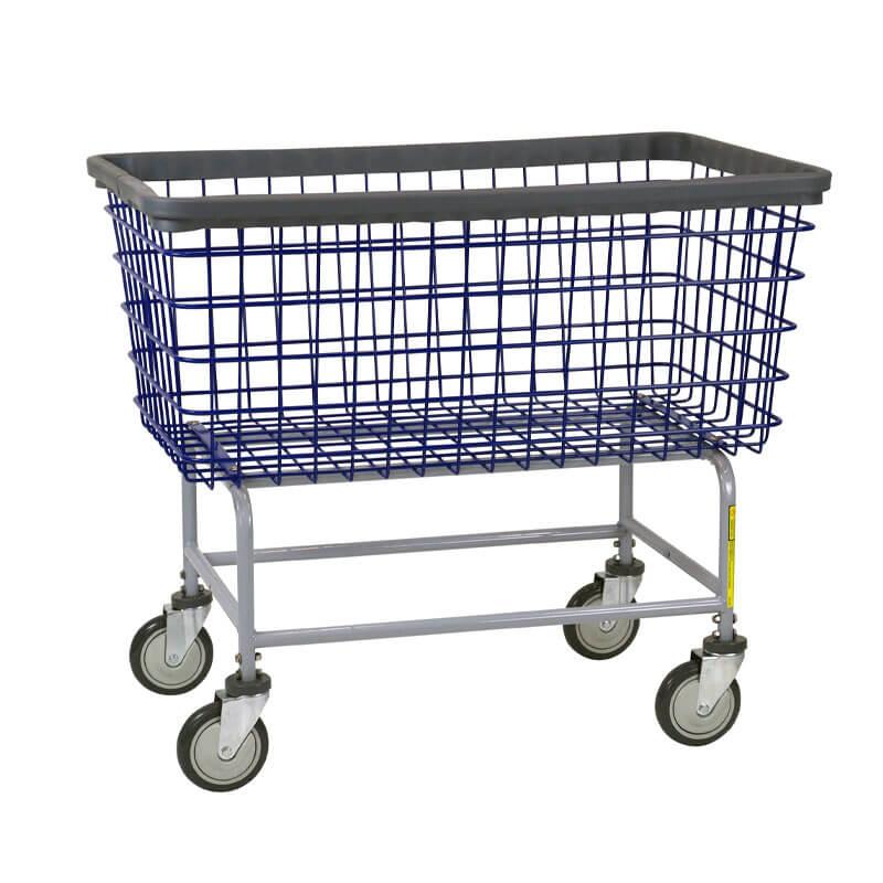 Mega Capacity Wire Frame Metal Laundry Cart - 6 Bushel - UnoClean