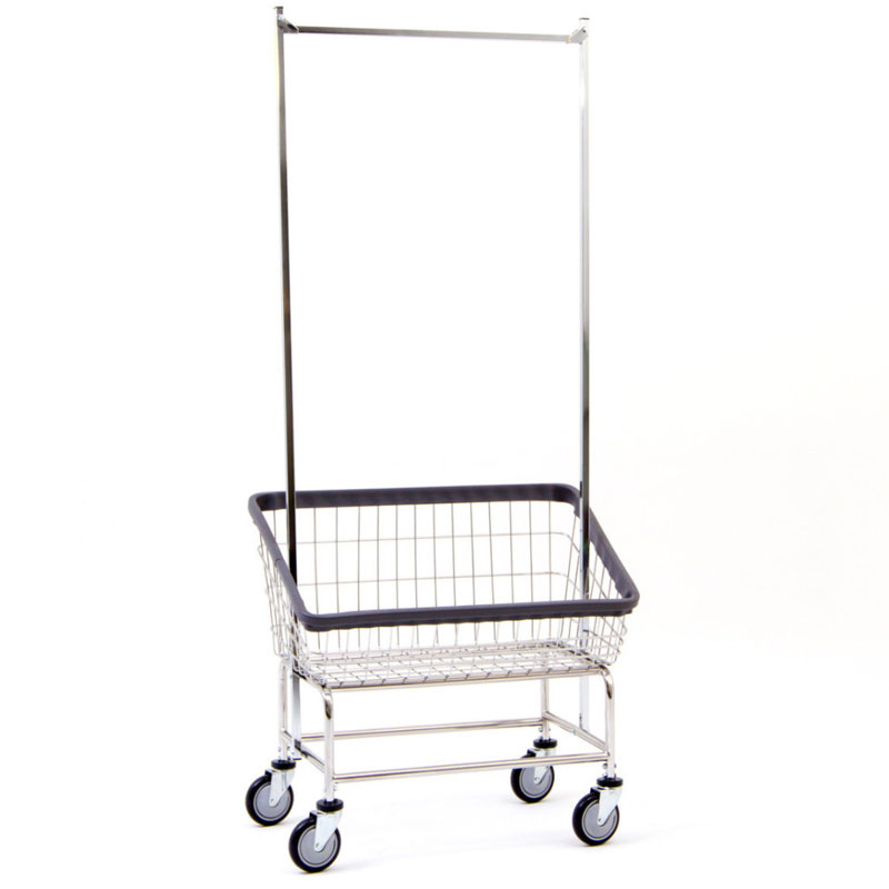 R&B Wire Large Capacity Front Loading Laundry Cart - 3 3/4 Bushel