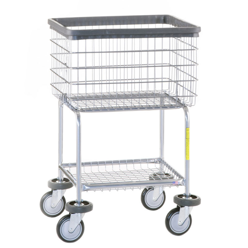 Deluxe Elevated Wire Frame Metal Laundry Cart 3 1 2