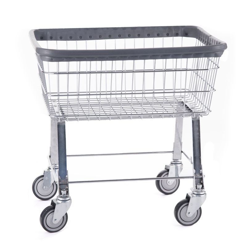 R&B Wire 96B Economy Wire Frame Metal Laundry Cart