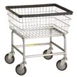 R&B Wire [100E] Standard Wire Frame Metal Laundry Cart - 2 1/2 Bushel Capacity - Chrome