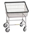 R&B Wire [100T] Front Loading Wire Frame Metal Laundry Cart - 2 1/4 Bushel Capacity - Chrome RB-100T-C