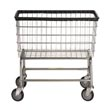 R&B Wire [200F] Large Capacity Wire Frame Metal Laundry Cart - 4 1/2 Bushel Capacity - Chrome RB-200F-C
