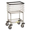 R&B Wire [300G] Deluxe Elevated Wire Frame Metal Laundry Cart - 3 1/2 Bushel Capacity - Chrome RB-300G-C