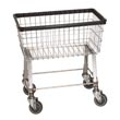 R&B Wire [96B] Light-Duty Wire Frame Metal Laundry Cart - 2 1/2 Bushel Capacity - Chrome RB-96B-C