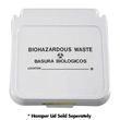 "R&B Wire [602BW] Laundry Hamper Lid Label - Biohazardous Waste - Black Lettering - (5) 12"" x 4"" Labels"