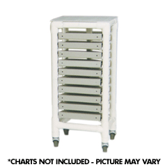 MJM International [2005] 2000 Series PVC Plastic Frame Medical Chart Rack - 5 Charts - 2 3/4