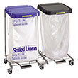 R&B Wire Double Medium Duty Metal Laundry Hamper w/ Foot Pedal RB-694