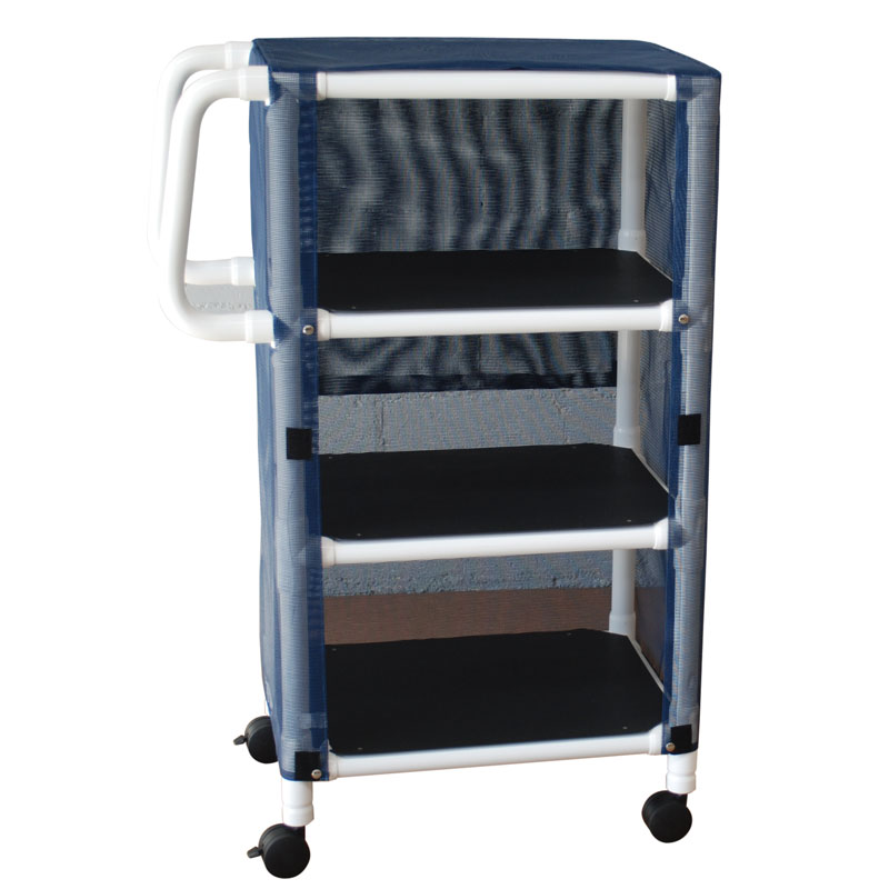 325-3C PVC Plastic Frame 3-Shelf Linen Cart
