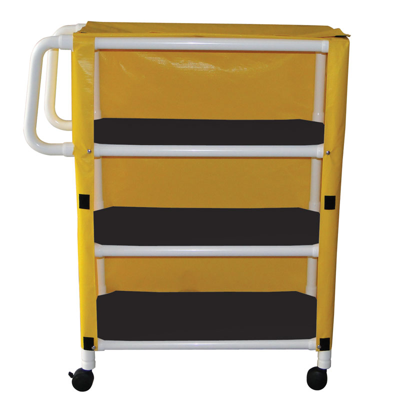 332-3C Three-Shelf Utility Linen Cart