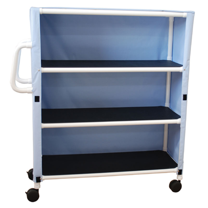 300 Series Three-Shelf Utility Linen Cart