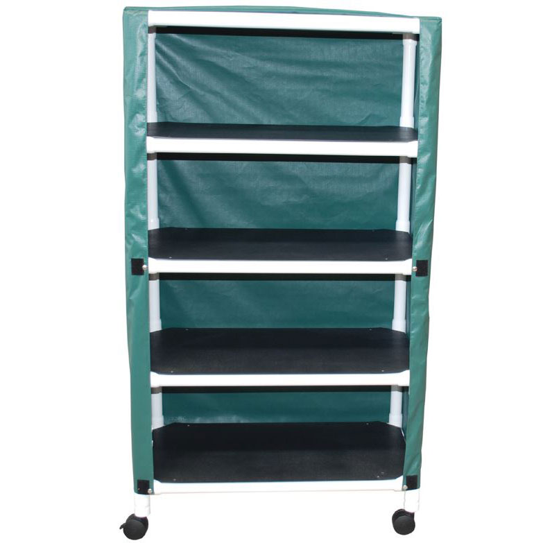 Echo Series PVC Plastic Frame 4-Shelf Utility/Linen Cart - 20