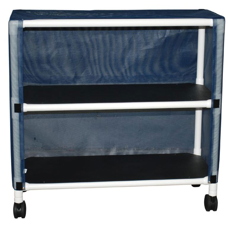 Echo Series PVC Plastic Frame 2-Shelf Linen Cart
