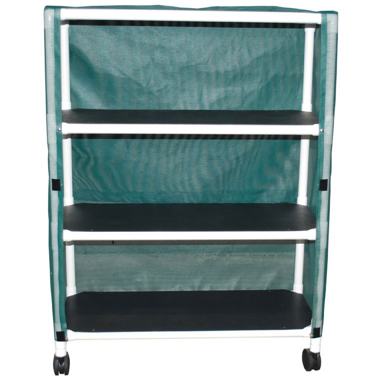 Echo Series PVC Plastic Frame 3-Shelf Linen Cart - 20