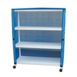 "MJM International [E350-3C] Echo Series PVC Plastic Frame 3-Shelf Jumbo Linen Cart - 20"" x 50"" Shelf"