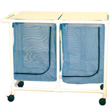 200 Series PVC Plastic Frame Double Laundry Hamper - 42 Gal.