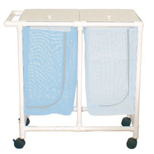 200 Series Space Saving PVC Plastic Frame Double Laundry Hamper
