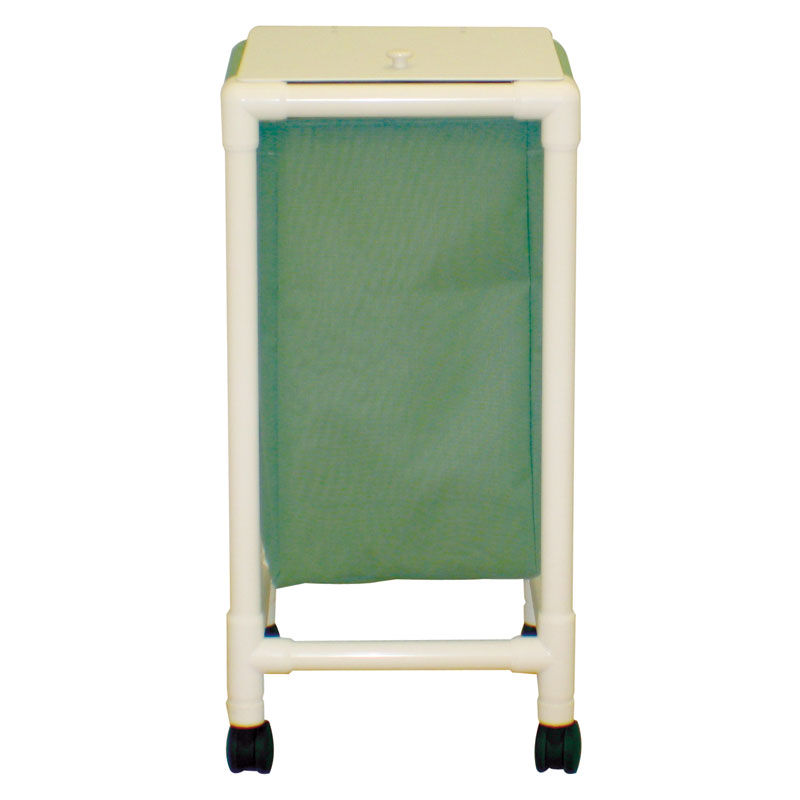 Echo Series PVC Single Laundry Hamper w/ Foot Pedal - 15 Gallon