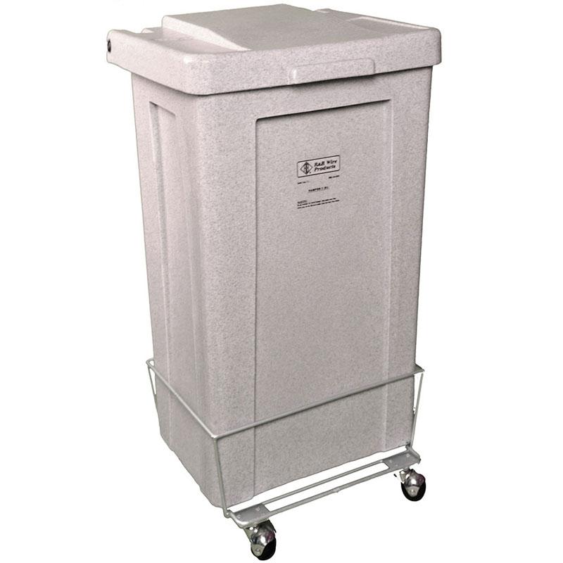 R b wire 693 wheeled poly truck laundry hamper 3 bushel capacity white portable hampers - Laundry hamper wheels ...