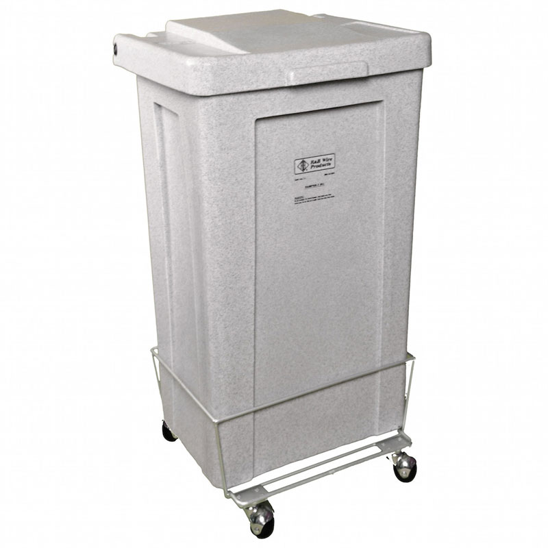 R&B Wire Wheeled Poly-Truck Laundry Hamper - 3 Bushel - Yellow