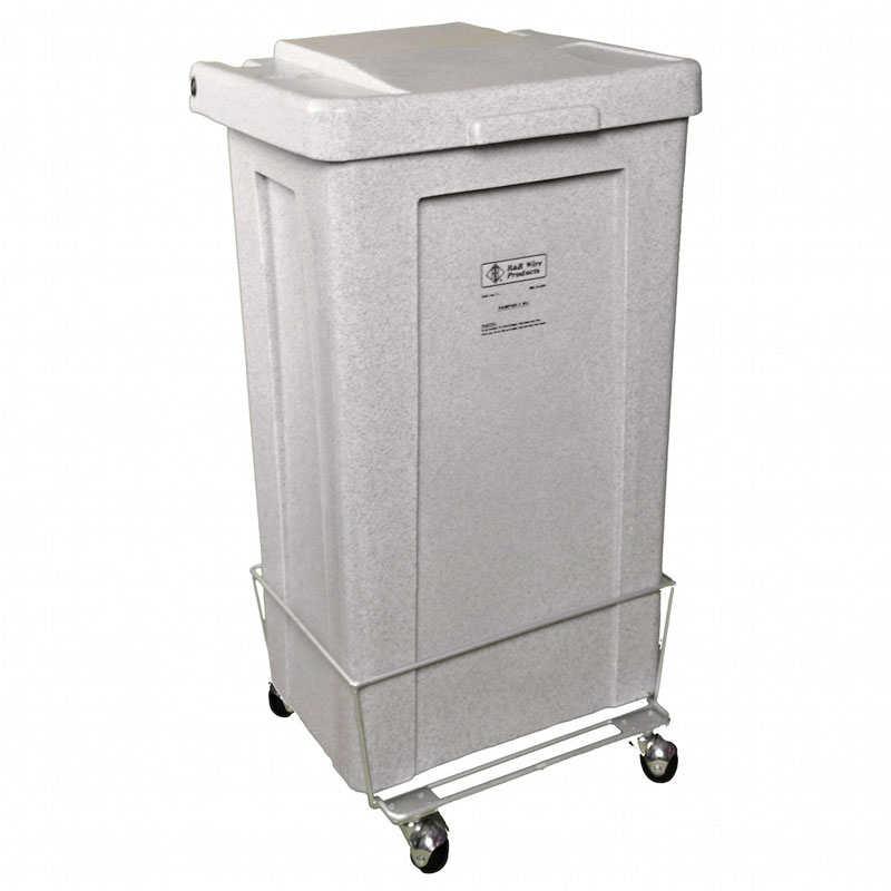 R&B Wire Wheeled Poly-Truck Laundry Hamper - 4 1/2 Bushel - Black