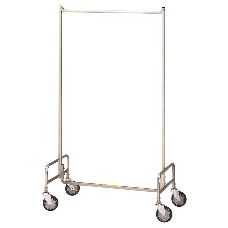 R&B Wire Portable Single Bar Garment Storage Rack - 36