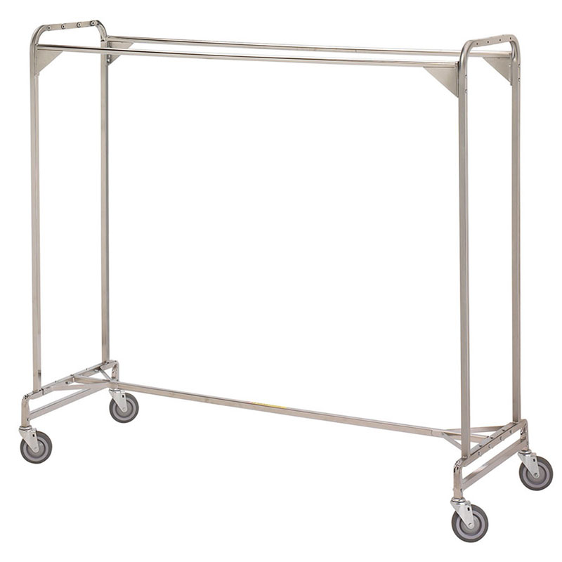 R&B Wire Portable Double Bar Garment Rack - 72