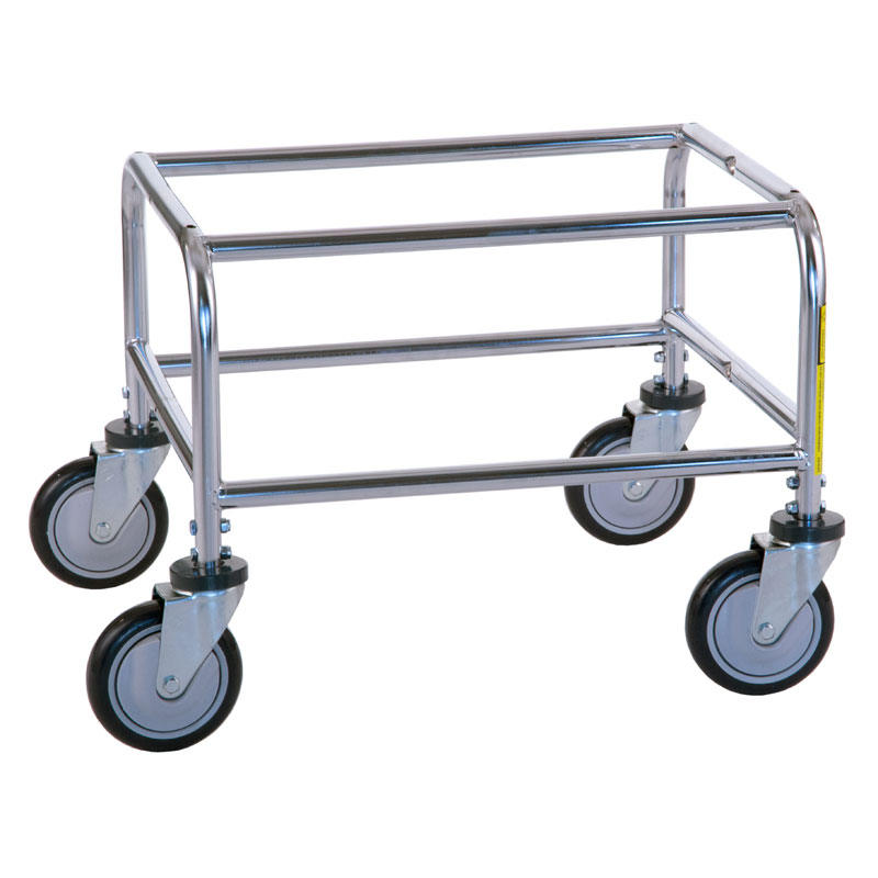 R&B Wire Standard Metal Laundry Cart Tubular Base