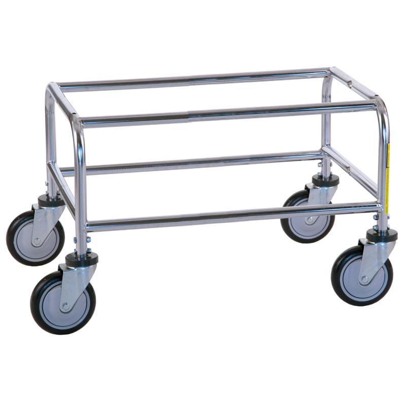 R&B Wire 200 Large Metal Laundry Cart Tubular Base - Chrome