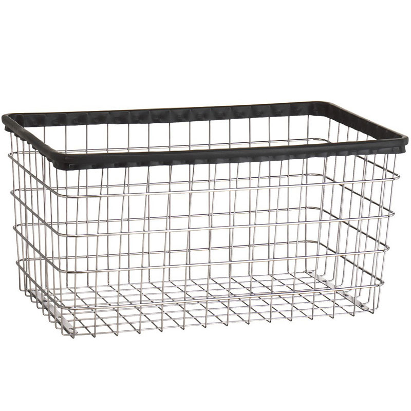 F Metal Wire Frame Laundry Cart Basket - 4 1/2 Bushel