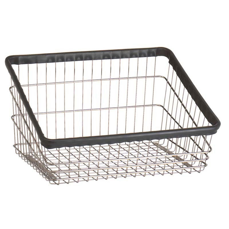 R&B Wire T Replacement Front Loading Laundry Cart Basket - 2 1/4 Bushel