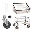 Commercial Replacement Metal Laundry Cart Parts, Baskets, Wheels, Tubular Bases, Pole Racks, Casters - Laundry, Healthcare & Hospitality Logistics