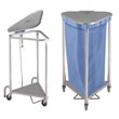 Commercial & Hospital Stainless Steel Triangular Hampers & Portable Foot-Pedal Triangle Linen Hampers - Laundry, Healthcare & Hospitality Logistics
