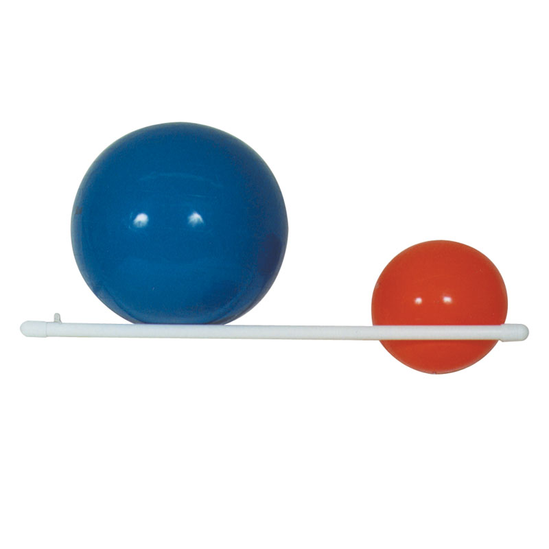 705 PVC Plastic Wall Mount Therapy Ball Storage Rack - 2 Ball Capacity