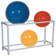 MJM International [7020] 7000 Series PVC Plastic Stationary Therapy Ball Storage Rack - 6+ Ball Capacity