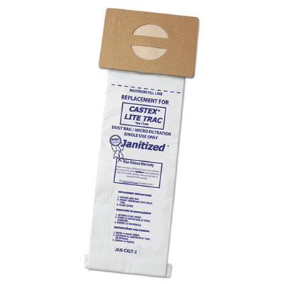 Janitized Castex Lite Trac Vacuum Filters