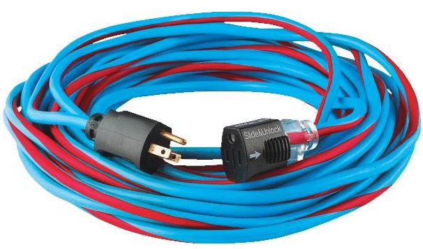 50' 12/3 Extension Power Cord