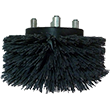 "Mastercraft [254282] Cleanfix Scrubby 2-in-1 Scrubber High Profile Nylon Grit Scrub Brush - 6"" MC-254282"