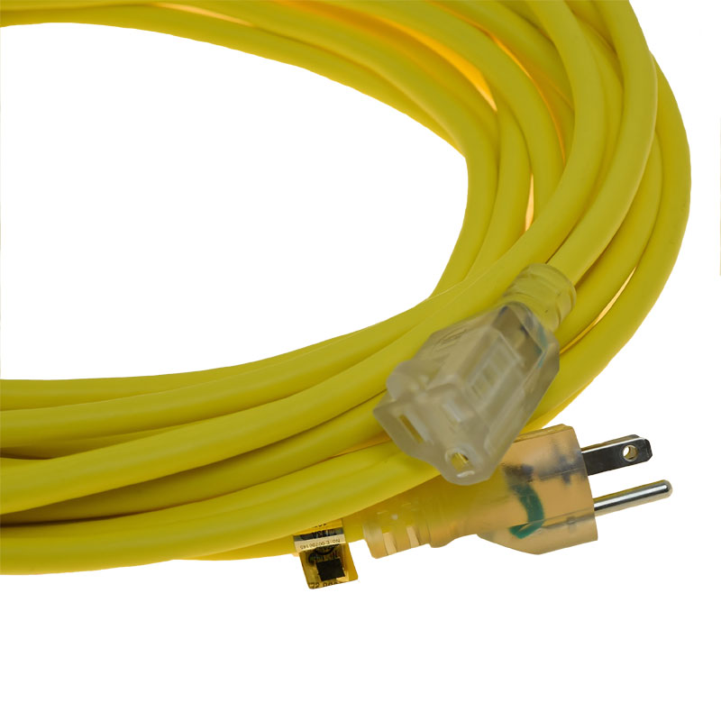 Extension Cord Accessories : Pro team  gauge extension power cord yellow