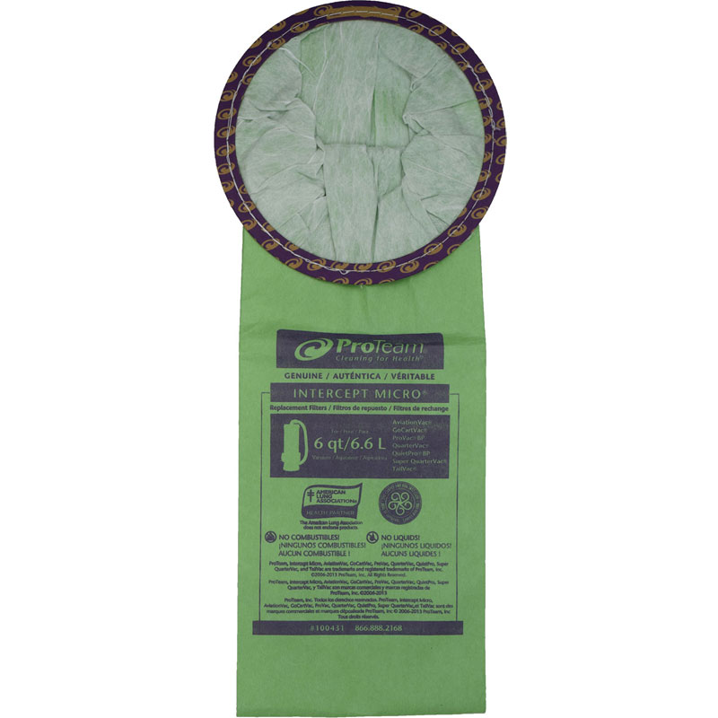 ProTeam Intercept Micro Reusable Vacuum Filters - 10 Pack