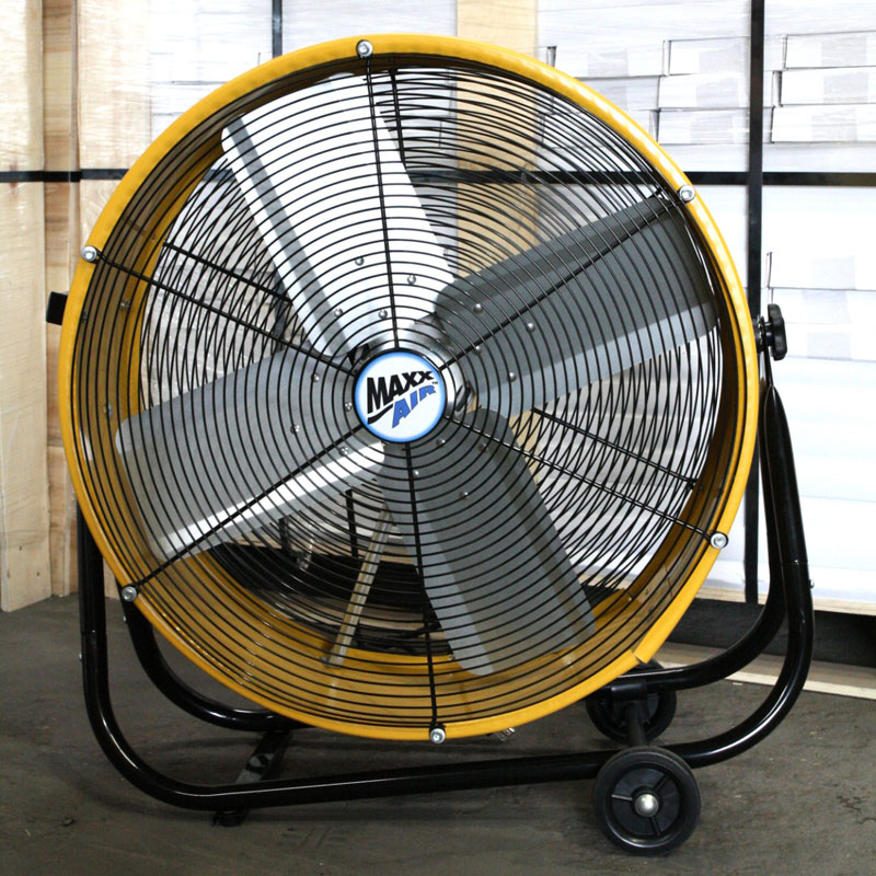 Maxx air 24 inch direct drive barrel tilt fan unoclean for Air circulation fans home