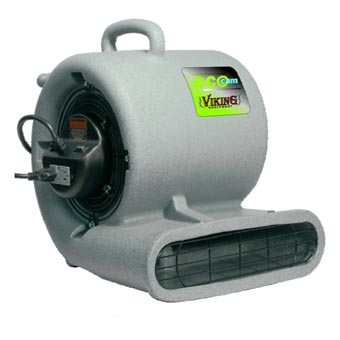 Viking ECO-CAM Pro Low Amp 1/3 HP Air Mover w/ GFCI - 1.6 AMP