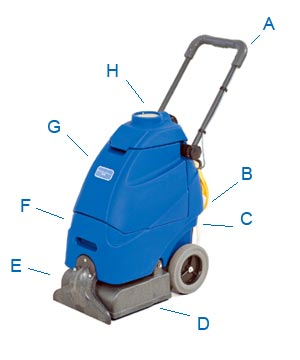 Kent Euroclean Xtrac Carpet Extractor - 5-Gallon