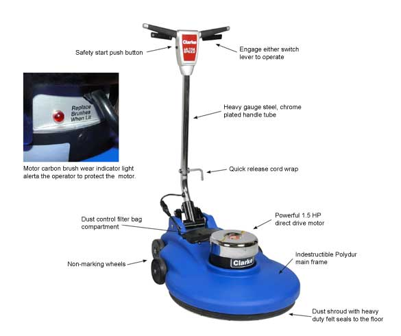 Clarke 1500 High Speed Floor Burnisher RPM 20