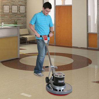 Clarke CFP 170 Floor Buffer Polisher Machine - 17 Inch Pad CLK-01280A