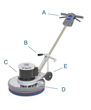 "Kent Euroclean SelectLine® 17HD Low Speed Floor Machine - 175 RPM - 17"" Pad"