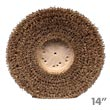 "Malish Union Mix Showerfeed Floor Machine Polishing Brush - Plastic Block - 14"" Dia."