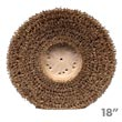 "Malish Union Mix Showerfeed Floor Machine Polishing Brush - Plastic Block - 18"" Dia."