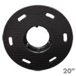 "Malish [786720] Floor Machine MIGHTY-LOK® Polymeric Face Pad/Disc Driver - Solid Block - 20"" Dia."